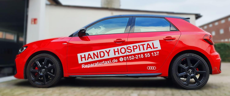 Referenz Arbeit KFZ Handy Hospital Reklame Bremen