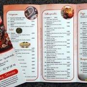 Willkommen Cafe Speisekarte Faltblatt Gestaltung