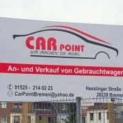 Car Point Reklame Schild Digitaldruck Reklame Bremen