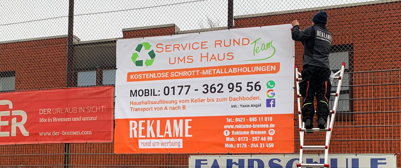 PVC Banner Gestaltung und Montage Reklame Bremen