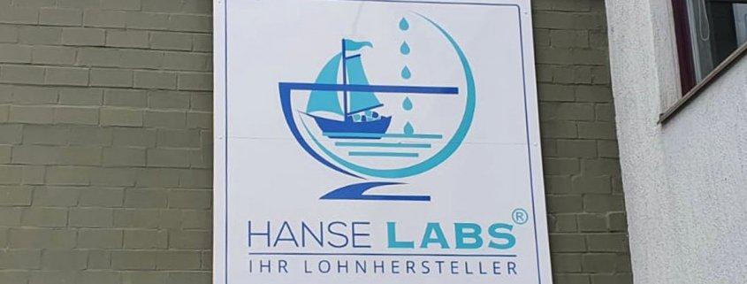 Hansa Labs Schilder Reklame Montage